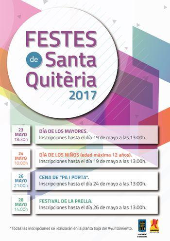 Inscripcions Santa Quitèria 2017