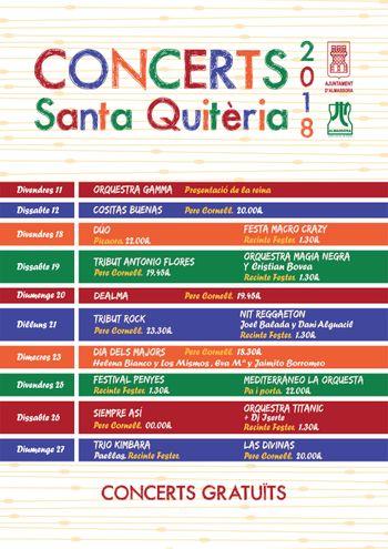 Conciertos santa Quteria 2018