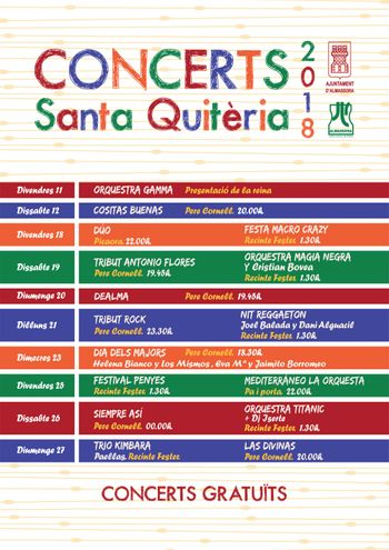 Concerts santa Quitèria 2018