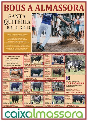 Cartel de toros santa Quiteria 2018